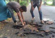 কালীগঞ্জ-গান্নায় ১৯ কোটি টাকার রাস্তা উঠে গেল সাত দিনে