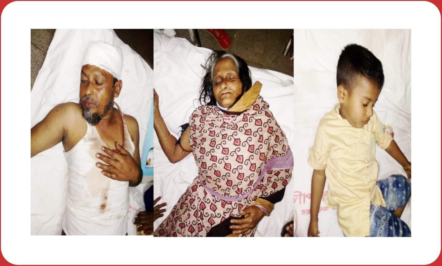 কাশীপুরে মুক্তিযোদ্ধার স্ত্রী সহ ৪জনকে কুপিয়ে পিটিয়ে জখম