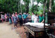 বাবুগঞ্জে গৃহবধূর ঝুলন্ত লাশ উদ্ধার : স্বামী পলাতক