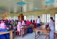 মির্জাগঞ্জে স্কুল-কলেজগুলোতে শিক্ষার্থীদের মাঝে উৎসবের আমেজ